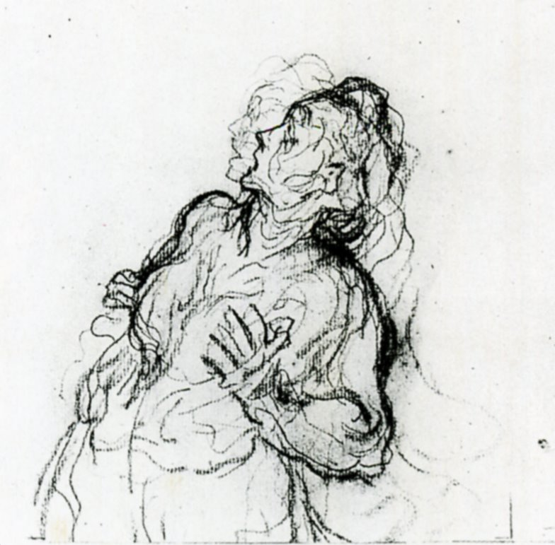 Study of a Terrified Woman #frenchart #honoredaumier <br>http://pic.twitter.com/60i12xQfs7
