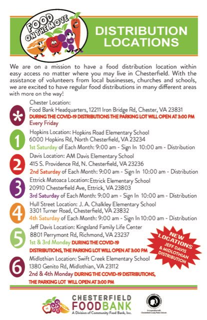 Here are the locations! Sorry the image didn't load correctly. #oneCCPS