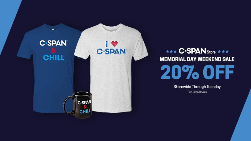 Gear up this #MemorialDayWeekend with your favorite @cspan, Book TV & American History apparel, drink ware & more! c-spanstore.org/store