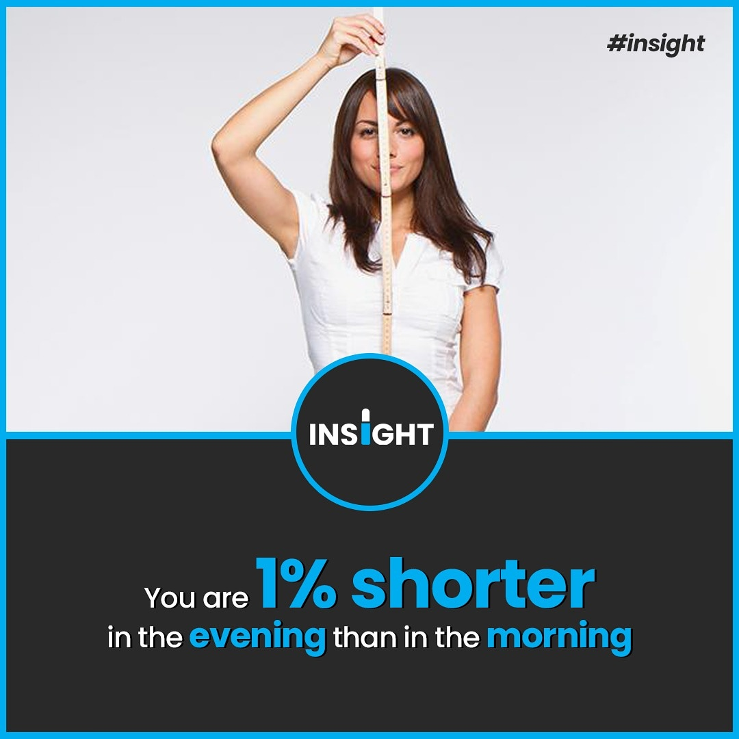 Don't believe it?  You should just try measuring your height early in the morning and then again in the evening.  #Insight  #factoftheday  #didyouknowfacts #factsonly #news  #factss  #allfacts #coolfacts #sciencefacts  #factsonfacts #worldfacts #explorepage #explore  #realfactspic.twitter.com/HHmNbUz6Dk