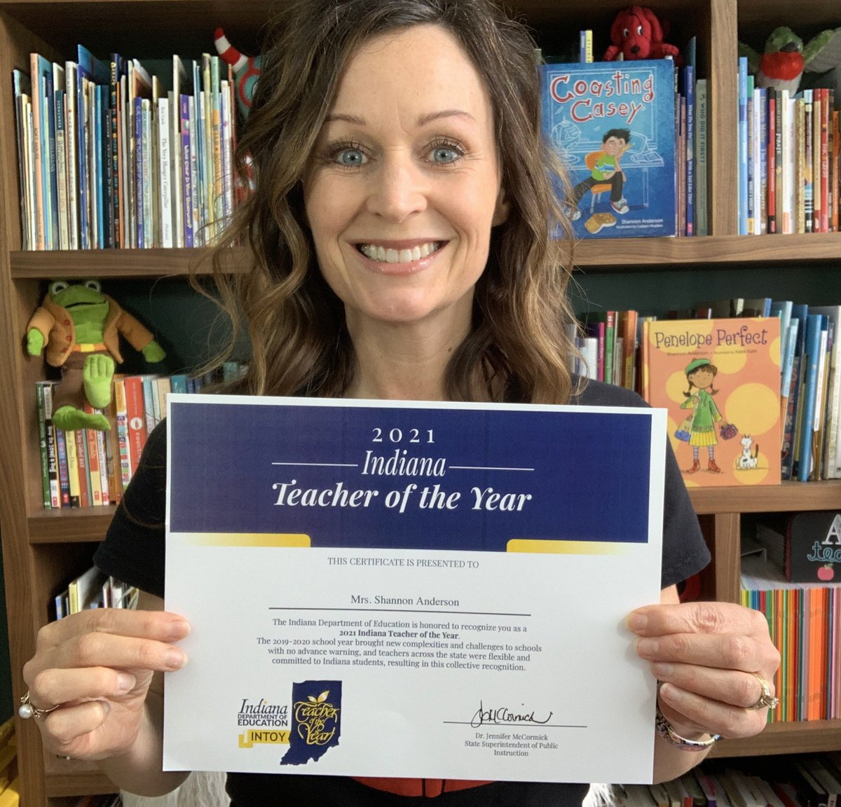 So this happened.  Ok, so every teacher in Indiana got one, but still! Never thought I'd get one of these. #blessed pic.twitter.com/WQoybOVjZa