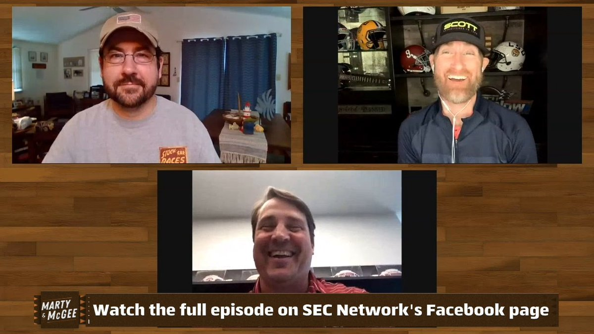 Is @CoachWMuschamp the most SEC human being that ever lived? 😆 @MartySmithESPN & @ESPNMcGees Show & Tell | Full show on our Facebook page 👀