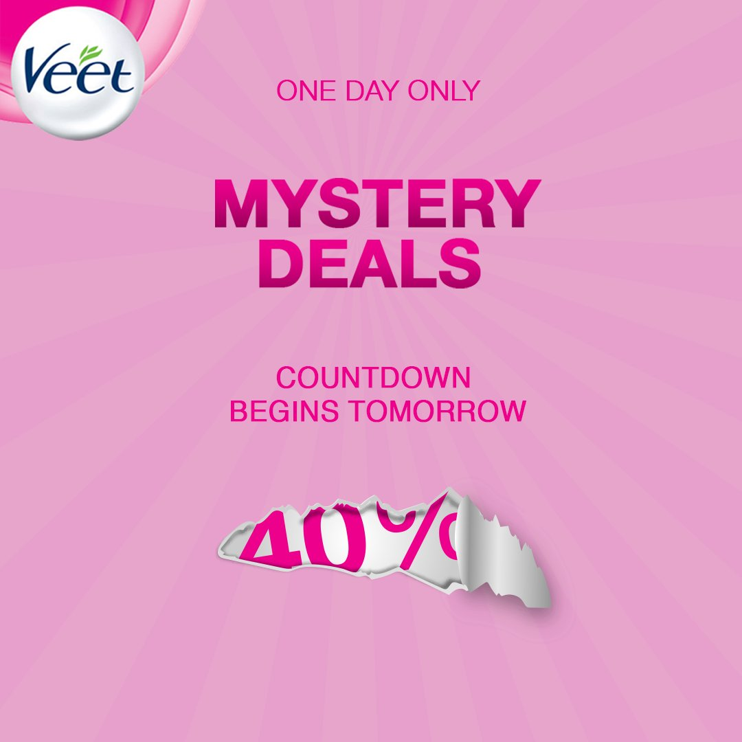 The countdown to May 28 begins tomorrow.   We will be revealing deals, discounts and freebies all week long!.   Save the date and follow us to stay up to date.  #JustVeetIt https://t.co/vRnQOzhKdp