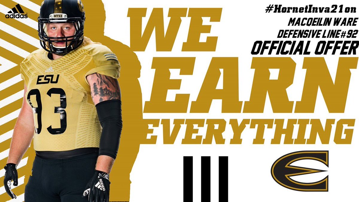 Blessed and excited to have received my 5th DII offer🐝❗️@CoachEmoore @ESUSports @CoachLinsey @CoachGHiggins https://t.co/mzwI3rV39z