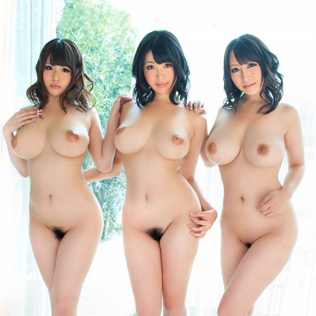 Young asian woman naked
