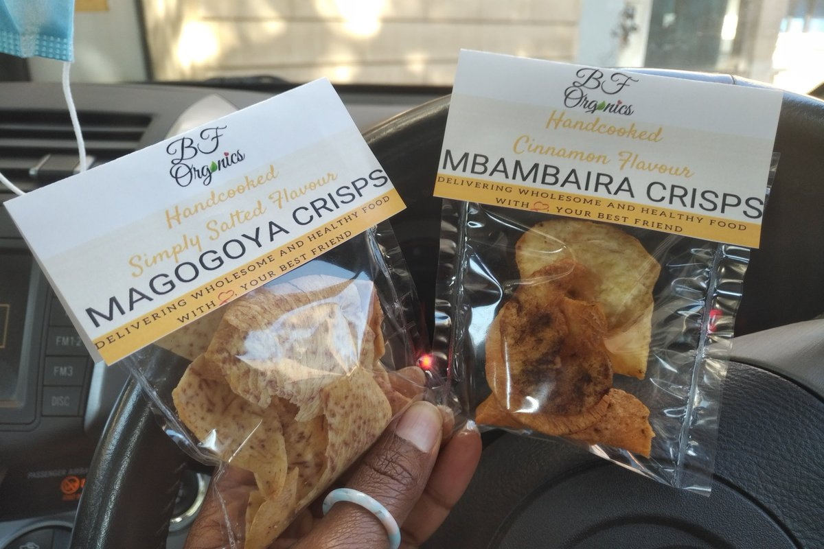 I'm starting something that's exciting yet scary. Venturing into a familiar yet new territory. Introducing my food brand, BF Organics comprising magogoya crisps, mbambaira crisps, sweet potato chocolate cake (wheat and dairy free) and banana/oat cake (wheat free) https://t.co/XujPFBV7jh