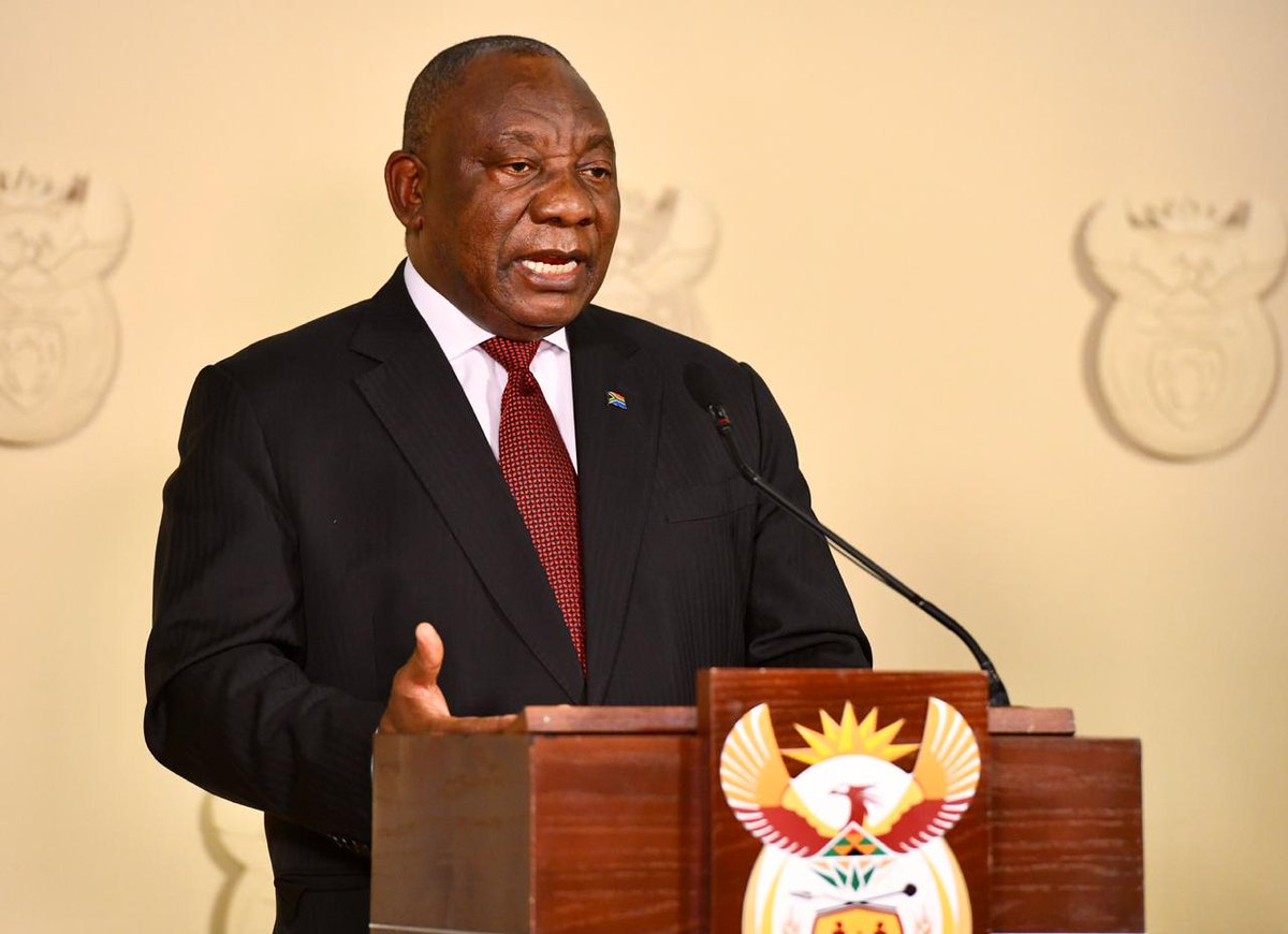 JUST IN | President Cyril Ramaphosa will address the nation at 19:00 on Sunday ow.ly/VVS750zOzD0