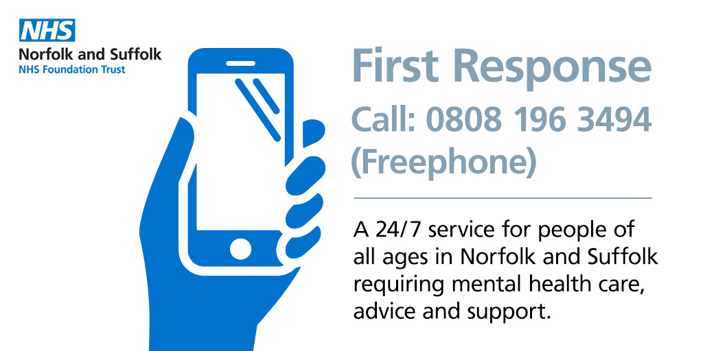This #MentalHealthAwarenessWeek remember that its ok not to be ok. But if youre worried about your own mental health and wellbeing call the 24/7 @NSFTtweets helpline: ☎️0808 196 3494 Read our wellbeing advice👇 norfolk.gov.uk/wellbeing