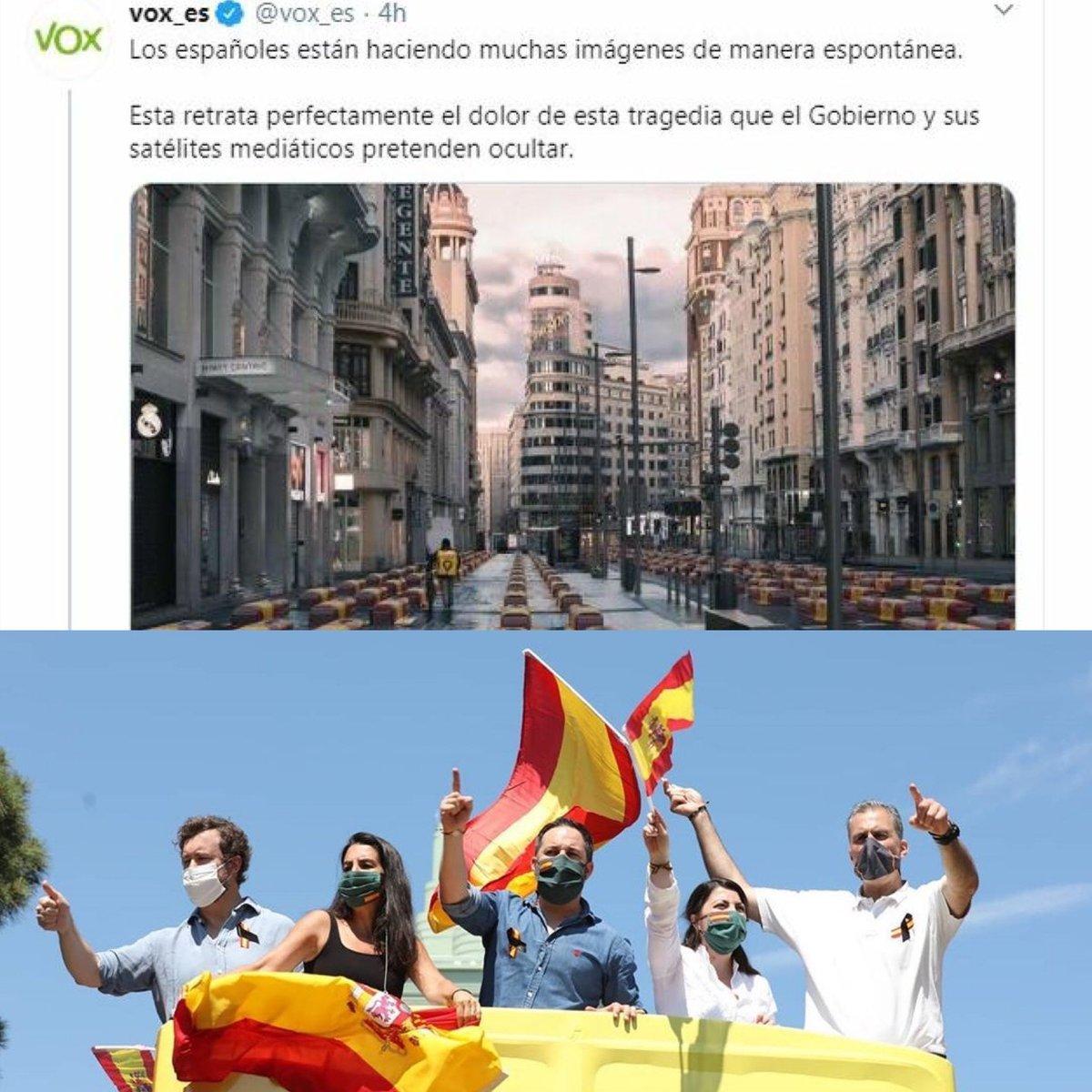Dos imagenes juntas se entienden mejor! #ElVirusSoisVoxotros #VOXMITIVOX