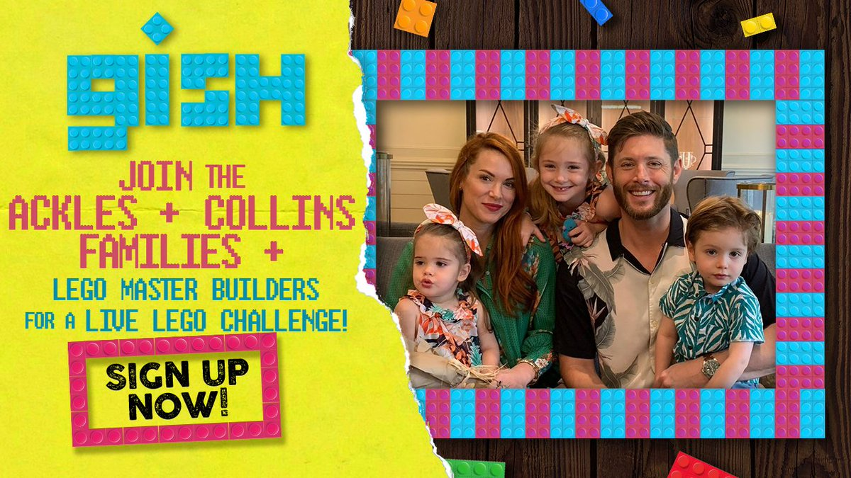 .@JensenAckles, @DanneelHarris, & their kids are joining me & my family for a competitive LEGO-building Zoom playdate! If you wanna join in the fun, there are only 2 DAYS LEFT to sign up for my 1-day scavenger hunt! @LEGO_Group     https:// bit.ly/LEGOGISH_MC    <br>http://pic.twitter.com/QUUetFHBN0