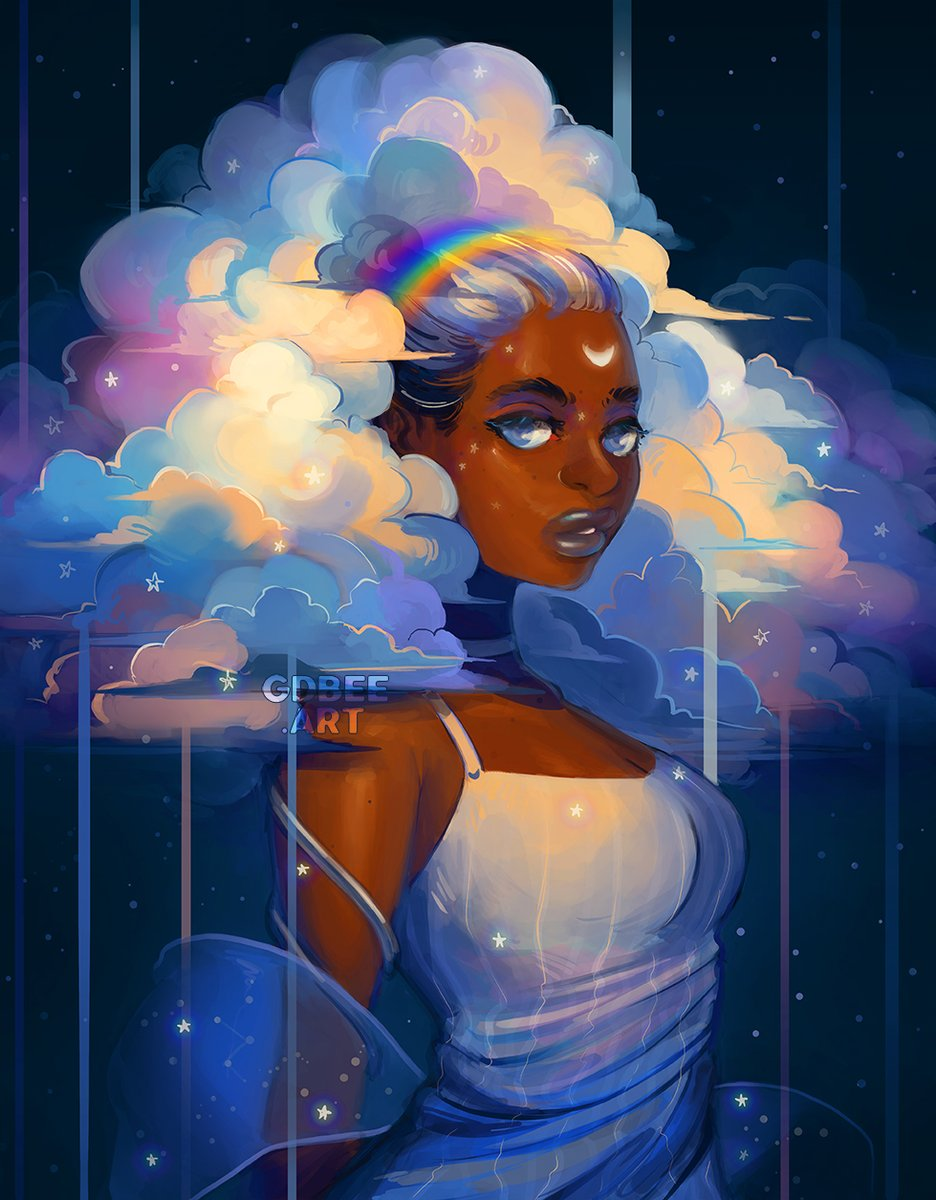 Replying to @gdbeeart: Cloud goddesses