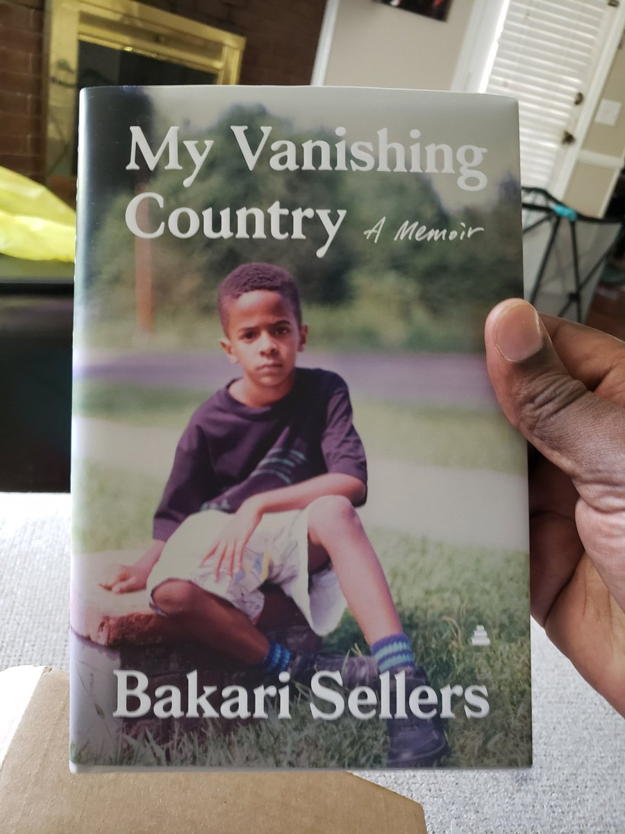 Just got my book from @Bakari_Sellers ! Looking forward to reading #myvanishingcountry. I need mine signed!