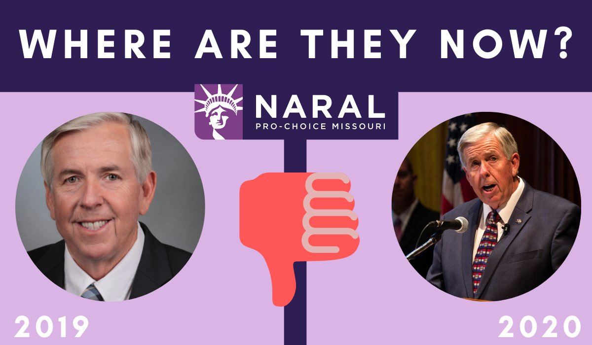 In 2019, @@GovParsonMO signed into law #HB126, a ban on abortion at 8 weeks...In 2020 he failed to properly protect Missourians against COVID-19. #StopTheBans https://t.co/87CoFOlmdw