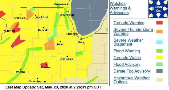 Yikes. Most of Illinois is under a tornado watch right now.