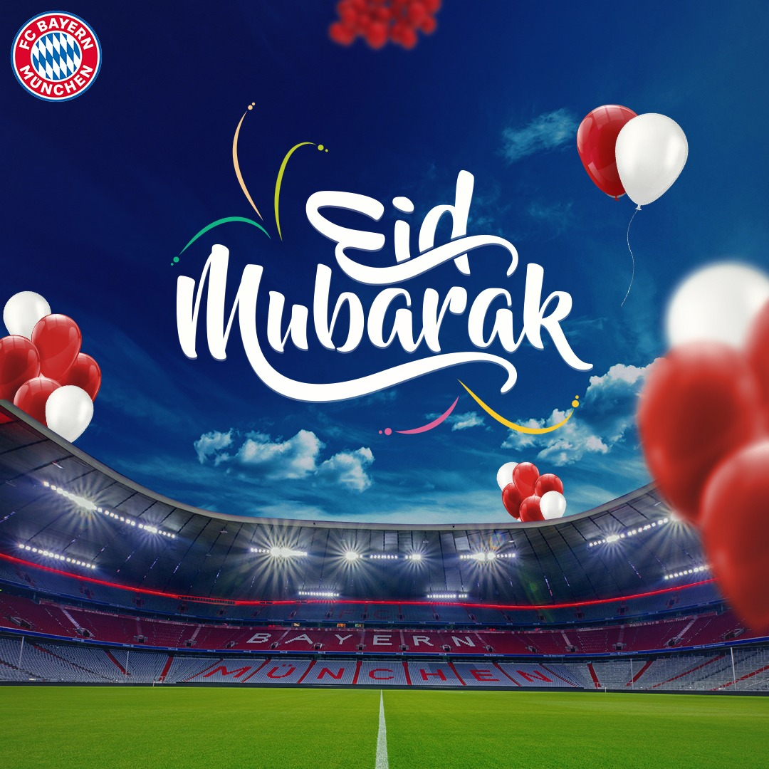 #EidMubarak to everyone celebrating around the world. Wishing health, happiness and prosperity to you all 🙏 #EidAlFitr #MiaSanMia