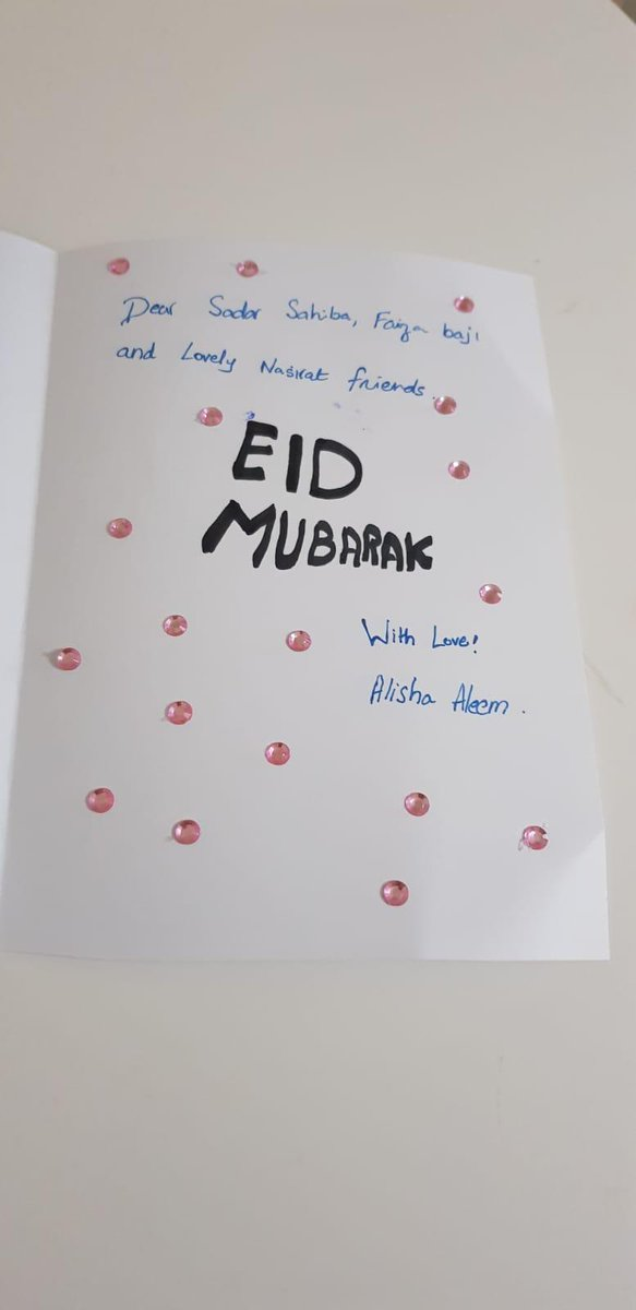 Nasiratul Ahmadiyya #Liverpool have created beautiful Eid cards to wish each other and their families a blessed #EidMubarakpic.twitter.com/6h3ysoZrgt
