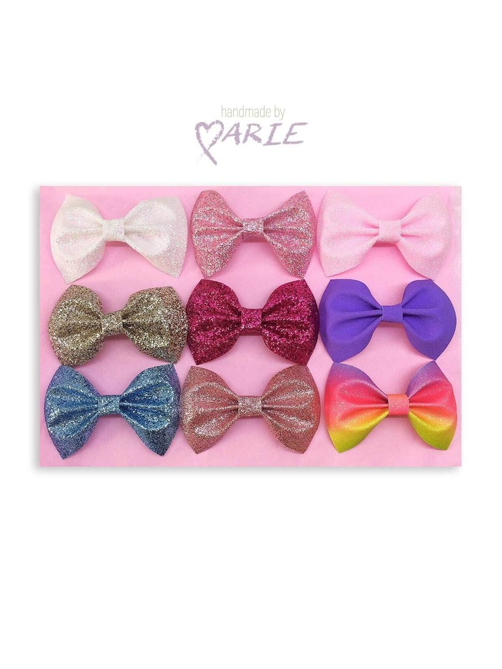 Classic DesignDazzling Pinch Bow Set 9 Vibrant Glitter Effect Colours, So You Have a Bow To Match Every Outfit!  #handmade  #glitterbows  #girlybows  #smallbows pic.twitter.com/6BXw3iOfZL