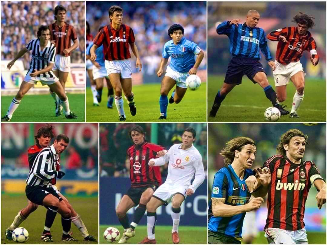 Paolo Maldini's career was so long, he defended Platini, Maradona, Ronaldo, Zidane, Cristiano and Ibrahimovic!   The greatest defender of all time.    <br>http://pic.twitter.com/whT6WY9XGq