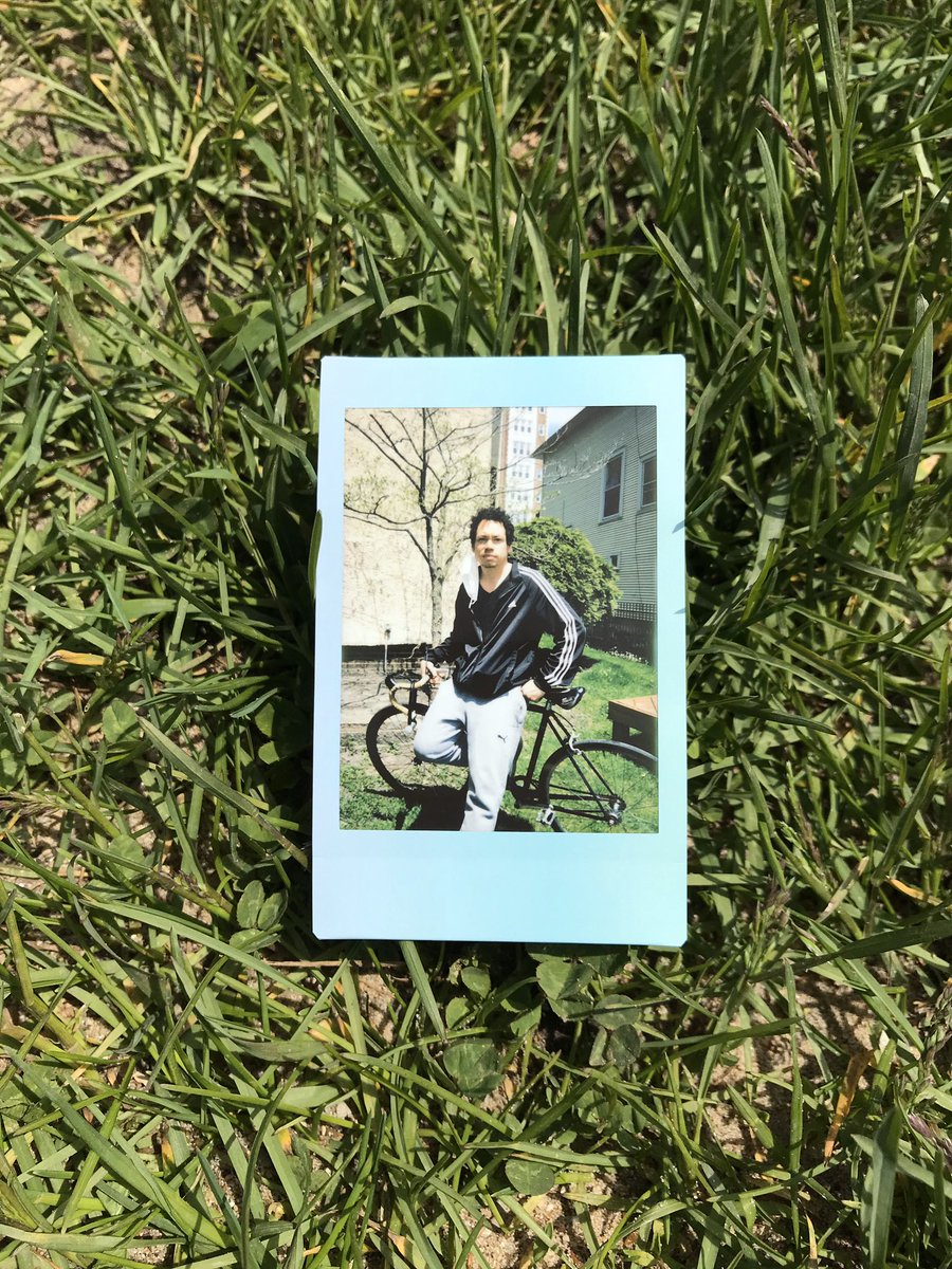 What a beautiful day to take a bike ride. Stopped by @oscararriola to chop it up and he snapped this Polaroid. Have a great day 💕