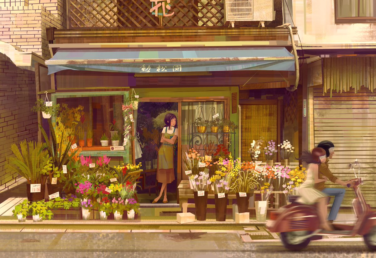 Flower girl #illustrationart #kyoto #Japan #visualdevelopment #animationpic.twitter.com/u1hajrwBQ7