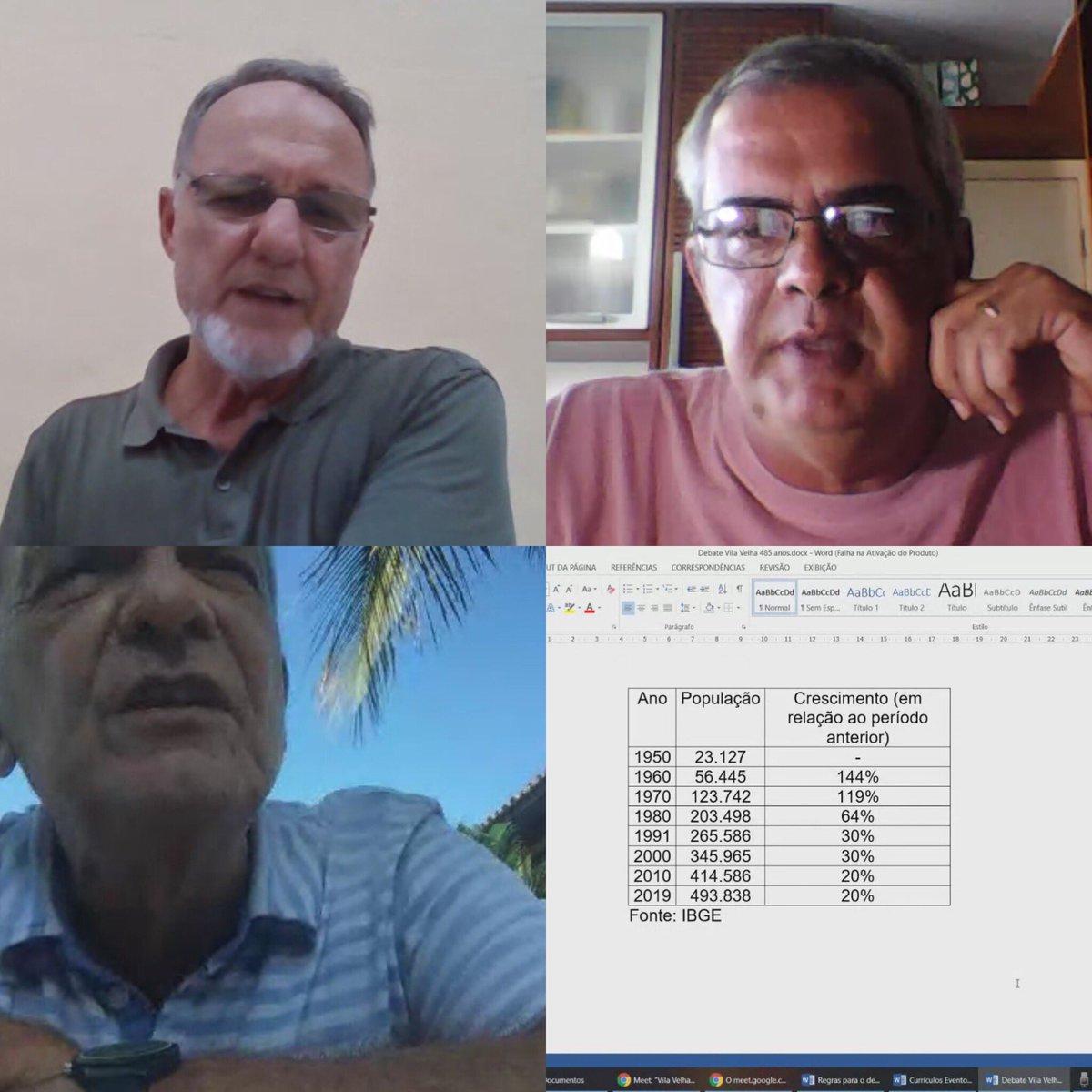 Hoje, tivemos boas aulas de história no Google Meet História e Identidade com Luiz Cláudio Ribeiro Rafael Simões e J. E. Franklin Leal. #vilavelha #485anos precisamos valorizar esses espaços de reflexão.pic.twitter.com/YTBaSBIw2p