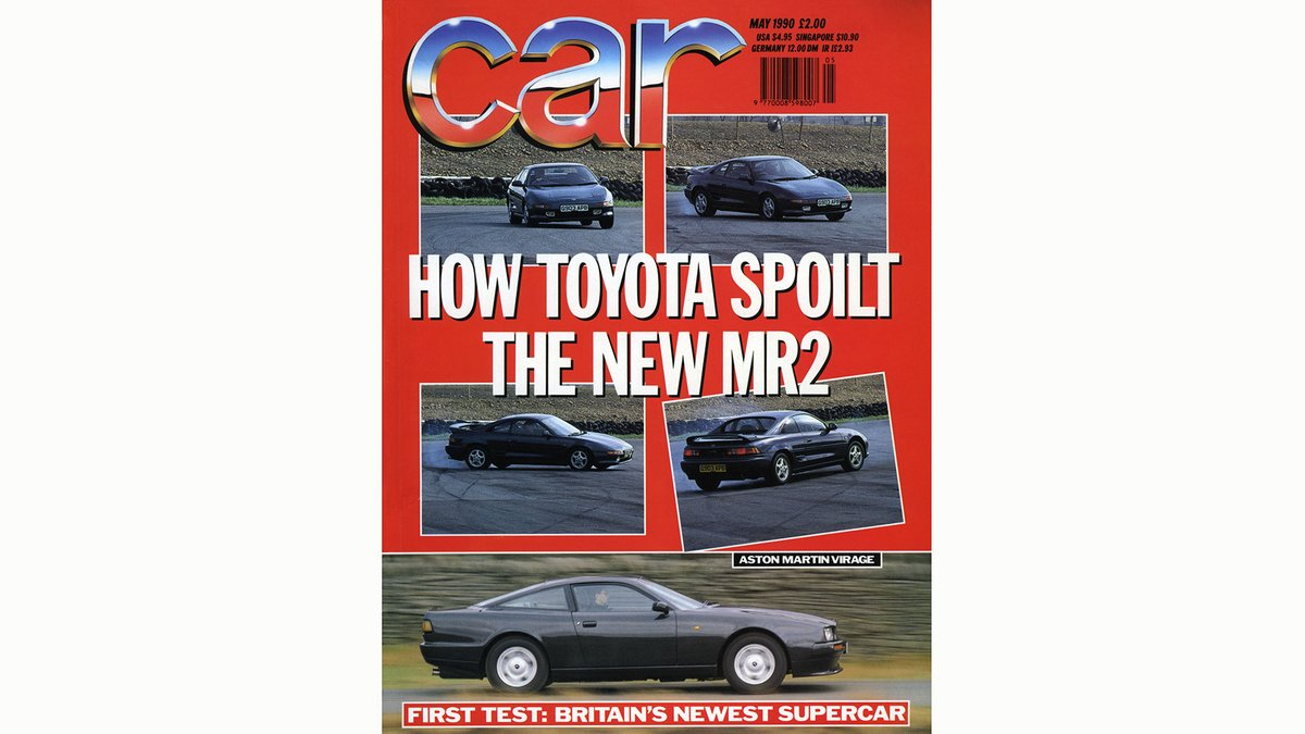 Thirty years ago this month, we were berating #Toyota for making the new mid-engined MR2 too twitchy - illustrated by a pirouetting coupe on our cover pic.twitter.com/DqeRnVF1Ew