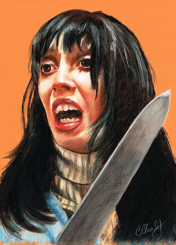 This is a big one! Today. 40 years ago!! May 23, 1980 The Shining was released.  Probably my most painted film! #WendyTorrance #JackTorrance #StanleyKubrick #TheShining #HorrorMovie #HorrorFam #Artpic.twitter.com/PFXE8iy4a6
