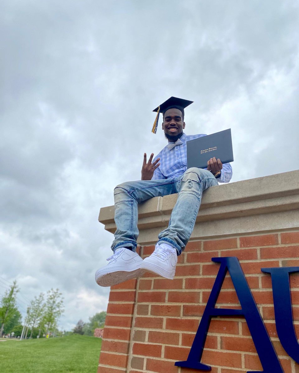 College Graduate  Thank you God #Blessed #BlackExcellencepic.twitter.com/StWjXjMpLy – at Augustana University