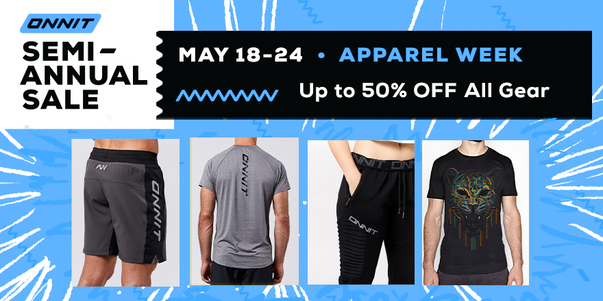Stock up now on all your Onnit Apparel Favorites. Up to 50% off all Apparel & Accessories, sale ends Sunday 5/24 at 11:59p CST! https://t.co/d0kwaZm3Gk https://t.co/zfgkdD2jW8