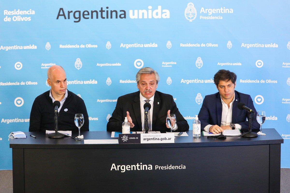 El presidente Alberto Fernández anunció la ampliación del aislamiento social, preventivo y obligatorio hasta el 7 de junio inclusive https://t.co/77xhdBR7Op https://t.co/BWgFyC5Dk0