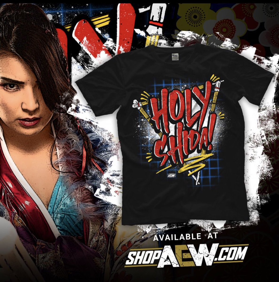 HOLY SHIDA! New AEW women's Champion! Go get her new shirt!  Use code DON to save 20% till noon cst May 25! #AEWDoubleorNothing #AEWDynamite  <br>http://pic.twitter.com/o3Md6xKs78