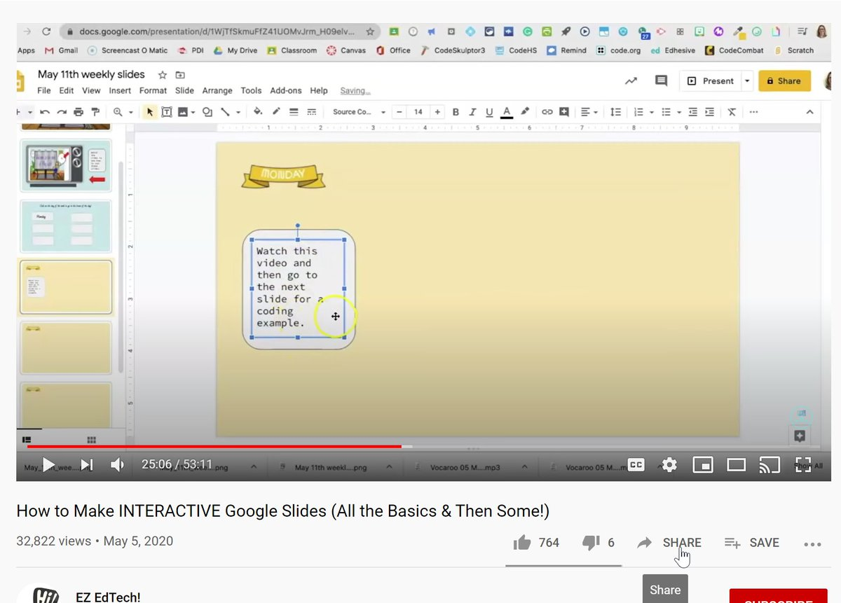 @scimann @YouTube @tkorte Sorry, I wasnt near a computer. I would think everyone has the share button. If your district allows YouTube, I cant imagine a reason to not allow sharing. Now I do NOT see the check box option accessing YT on mobile. But this is it in my district account. Hope that helps