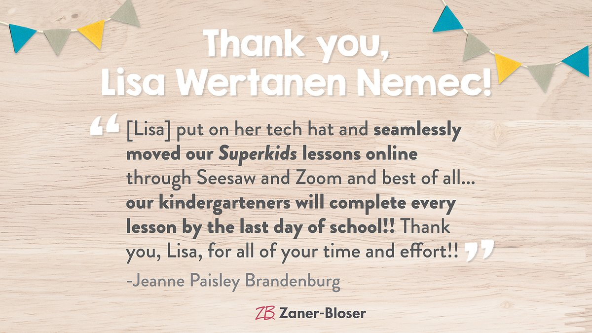 Lisa, your hard work has impacted your school so much! Thank you for sharing, Jeanne. 💙#ThankATeacher https://t.co/yNTi0wcxBZ