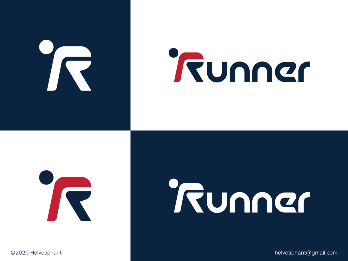Runner logo design concept.  https://dribbble.com/shots/11554869-Runner-logo-concet …  Available for the right client. contact: helvetiphant@gmail.com  #runner #sports #Logo #concept #dribbble #branding #sports #sportswear #LogoDesign #Logodesigner #logomaker #custom #typography #lettering #logotype pic.twitter.com/qup630fLV7