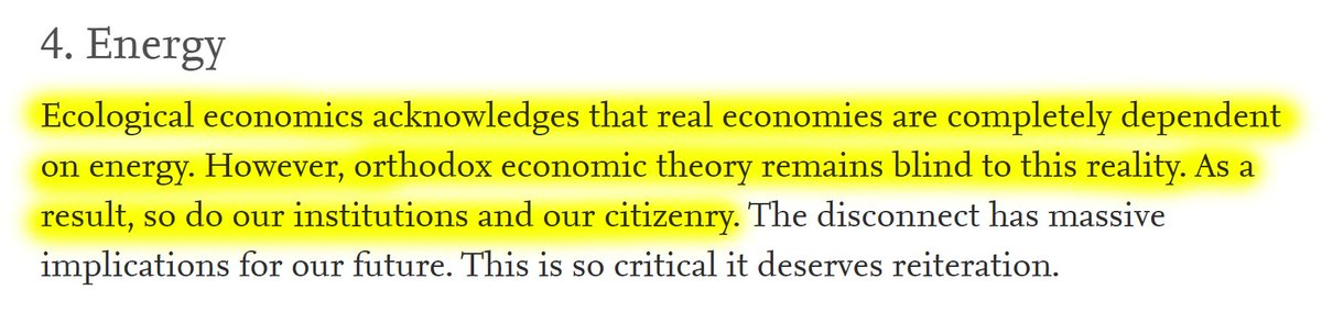 """14/60 4. EnergyOrthodox economic theory, institutions and citizenry are energy blind. """"This disconnect has massive implications for our future."""""""