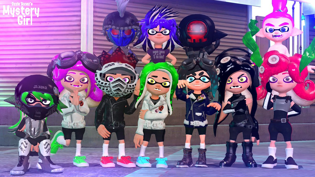 After months of designing the characters! I have finally got everyone from Mystery Girl finalized, I am very happy with these designs, and I hope you all are too!  #Splatoon2 #Fanart #SFM #GMOD #splatart #3dart #NintendoSwitch #Nintendo #splatoon絵描きさんと繋がりたい