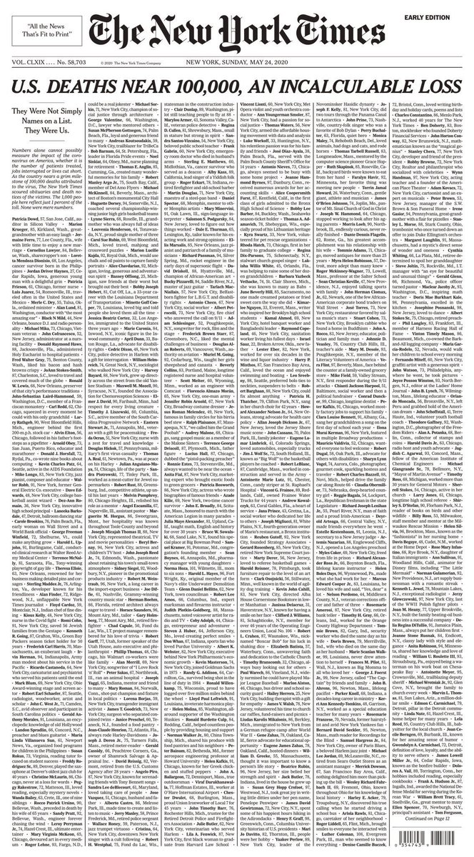 All the names of the people we have lost to covid-19. Damn. This is overwhelming. https://t.co/lSTjo6ovRh