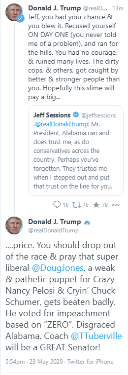 This is how Trump treats hardcore, far right, frantically partisan supporters of his own ideology. Instead of telling me how you cant vote for Biden, start showing THIS to those who intend to vote for Trump.