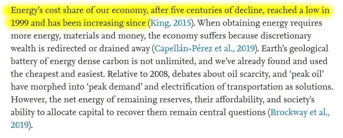 """27/60 """"Energy's cost share of our economy, after five centuries of decline, reached a low in 1999 and has been increasing since."""""""