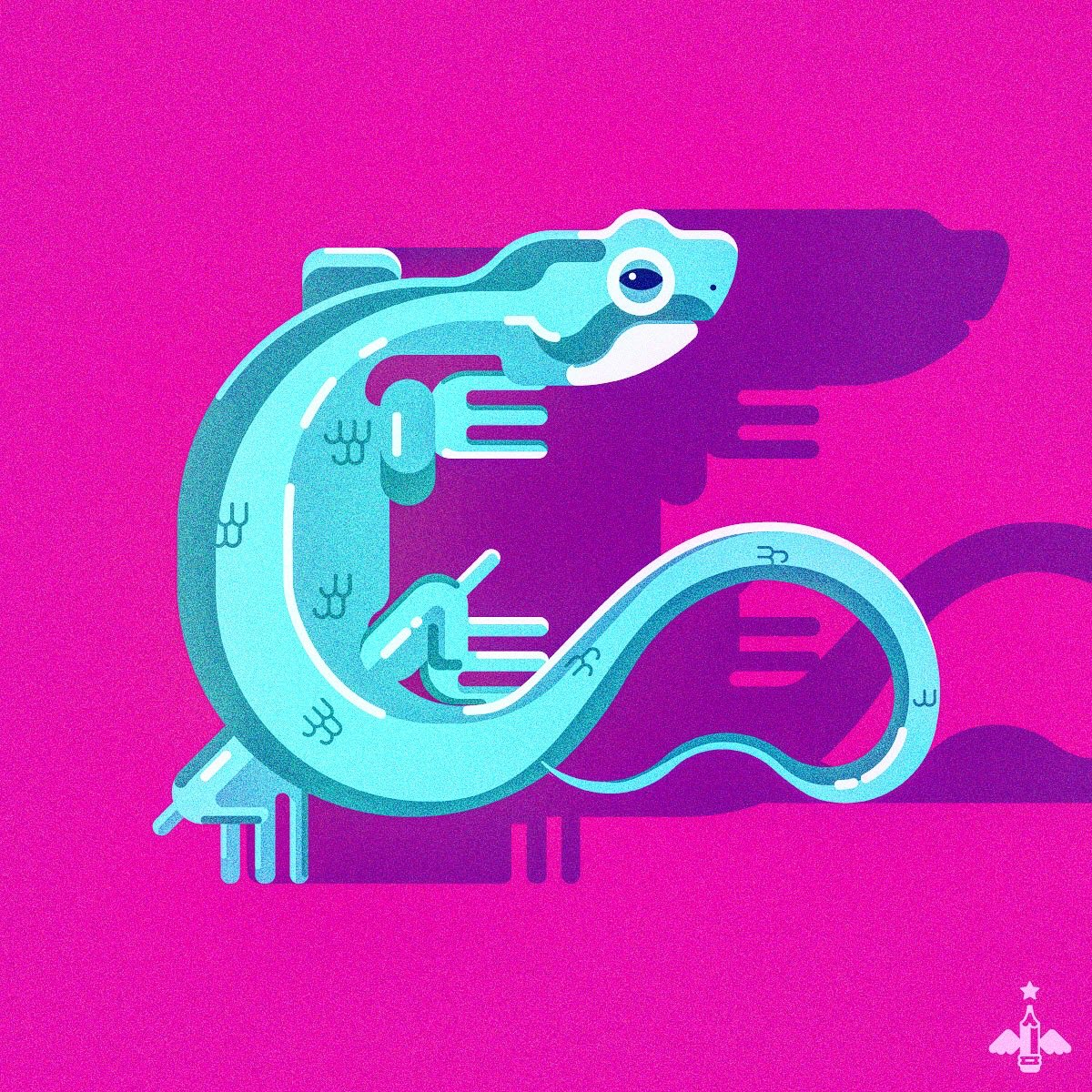 #doodle of the day    #lizard #graphicdesign #vector #contrast #illustrationpic.twitter.com/lg1KdozISU