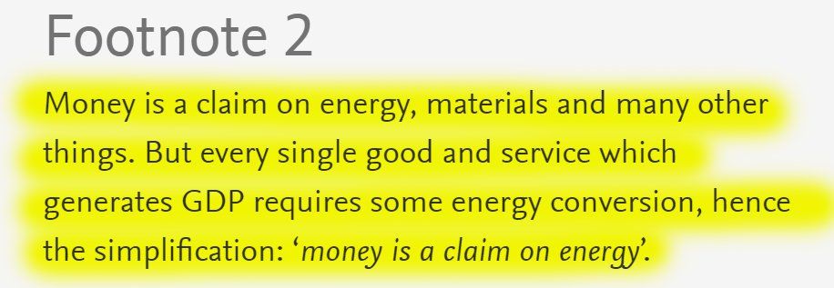 """32/60 4.11. Energy and debt""""Since money is a claim on energy, then debt is a claim on future energy."""""""