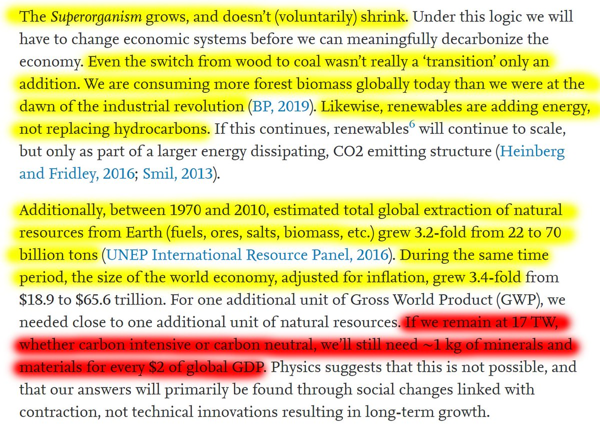"""45/60 """"If we remain at 17 TW, whether carbon intensive or carbon neutral, we'll still need ~1 kg of minerals and materials for every $2 of global GDP."""""""