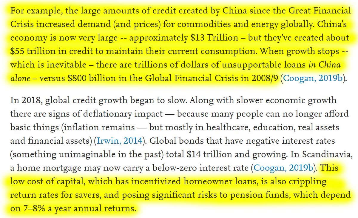"""48/60 """"China created about $55 trillion in credit to maintain their current consumption. When growth stops – which is inevitable – there are trillions of dollars of unsupportable loans in China alone – versus $800 billion in the Global Financial Crisis in 2008/9."""""""