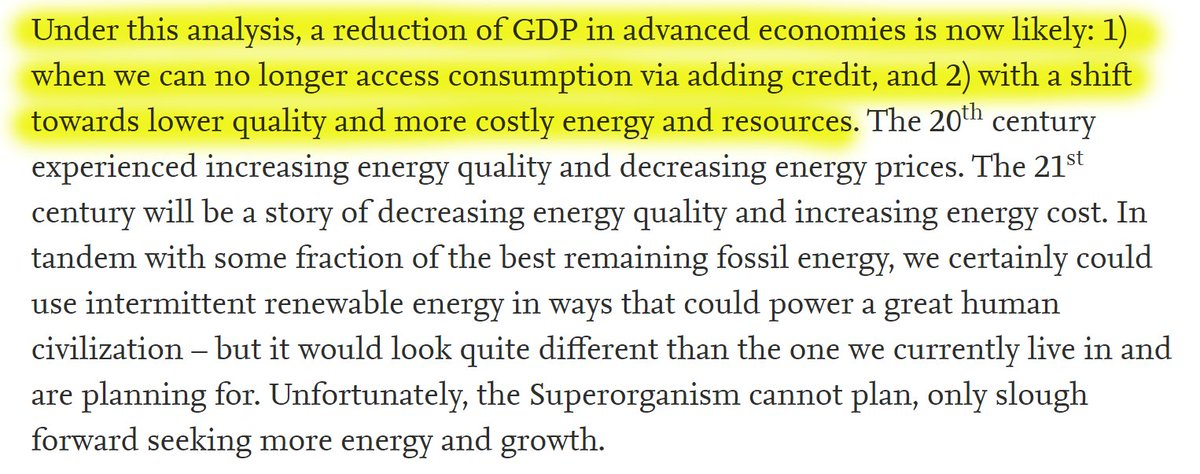 """52/60 """"Under this analysis, a reduction of GDP in advanced economies is now likely: 1) when we can no longer access consumption via adding credit, and 2) with a shift towards lower quality and more costly energy and resources."""""""