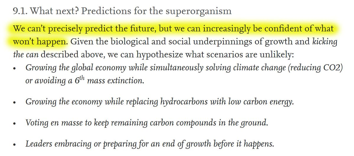"""54/60 9. Discussion 9.1. What next? Predictions for the superorganism""""We can't precisely predict the future, but we can increasingly be confident of what won't happen:"""""""