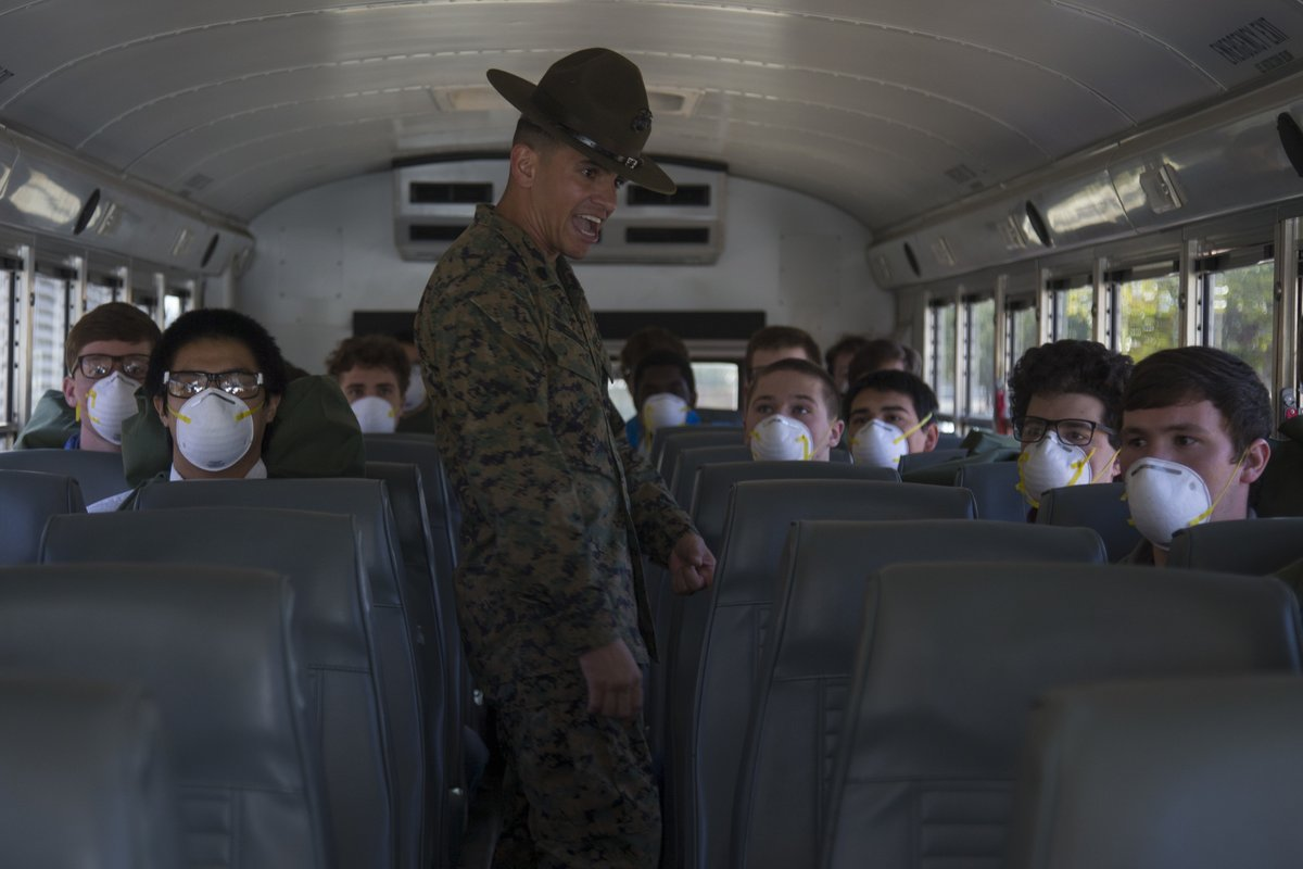 """Bravo Zulu @MCRD_SD! ""As we respond to the coronavirus pandemic, @USMC remains the nation's force-in-readiness & continues to recruit & train – taking steps to preserve the health of the force & prevent the spread of #COVID19 at Recruit Depots."" - Acting #SECNAV"