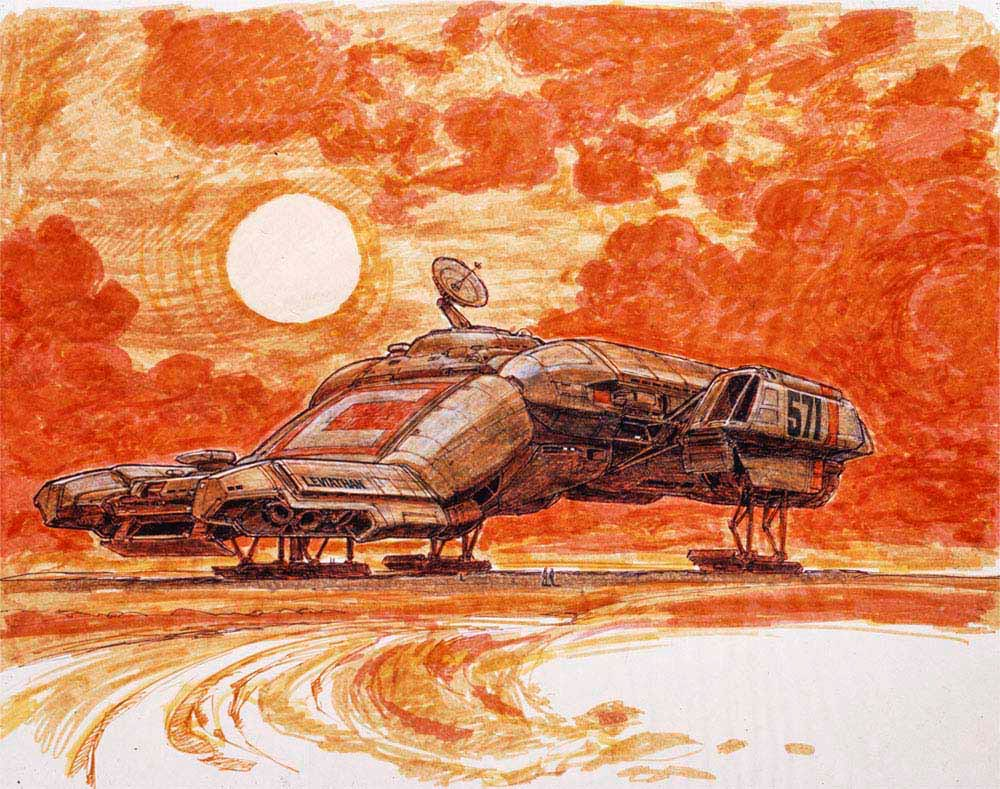 "SciFi Art on Twitter: ""Ron Cobb's early concept art of the Nostromo for  Alien (1979)… """