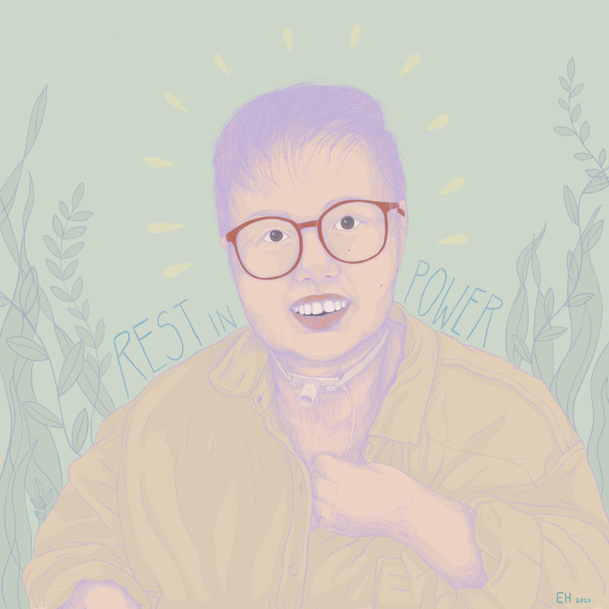 #StaceyTaughtUs to build community, to revel in joy, to show up for the people we love. Her work was transformative, as was her friendship. So many disabled folks know ourselves better because of Stacey.  (illustration by queer, disabled artist Em Haislip) <br>http://pic.twitter.com/s5JcoqREcv