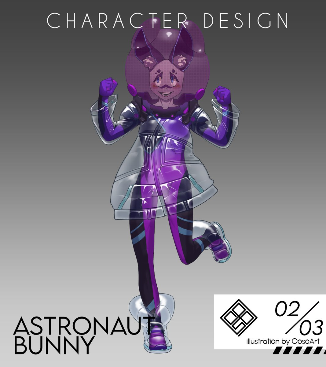 second #characterdesign !  astronaut bunny !   pic.twitter.com/vSyVH8qRBx