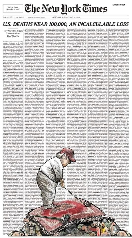 Someone fixed it: as 100,000 Americans die over Memorial Day weekend, Trump hits the links.